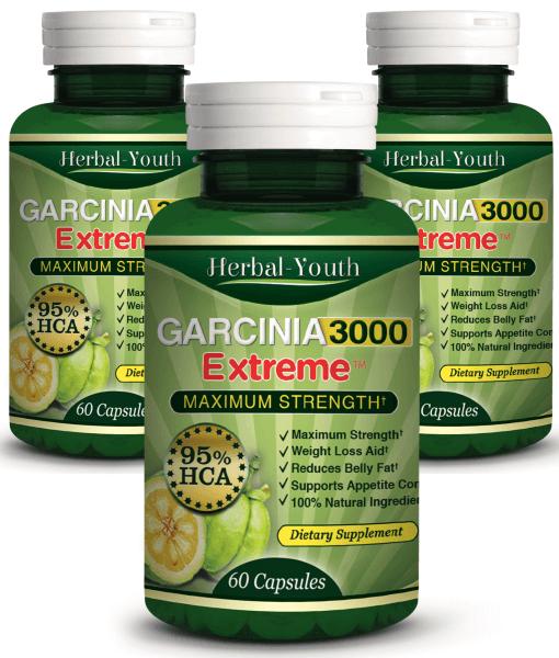3 x Garcinia Cambogia Extreme 95% HCA Capsules | Health 'n